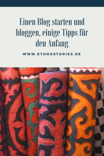 Aufgerollte Shyrdak, Filzteppiche aus Kirgistan - Artikelfoto: Einen Blog starten und bloggen, hast du mir Tipps für den Anfang?