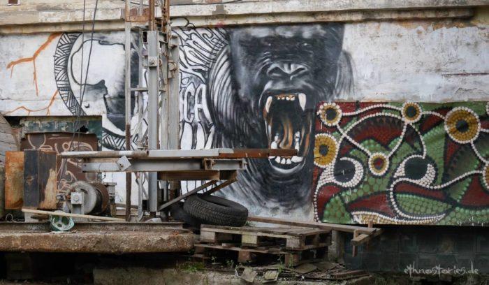 Hotspot für Street Art, Künstlerzentrum Alafuzov Loft, Kasan, Tatarstan