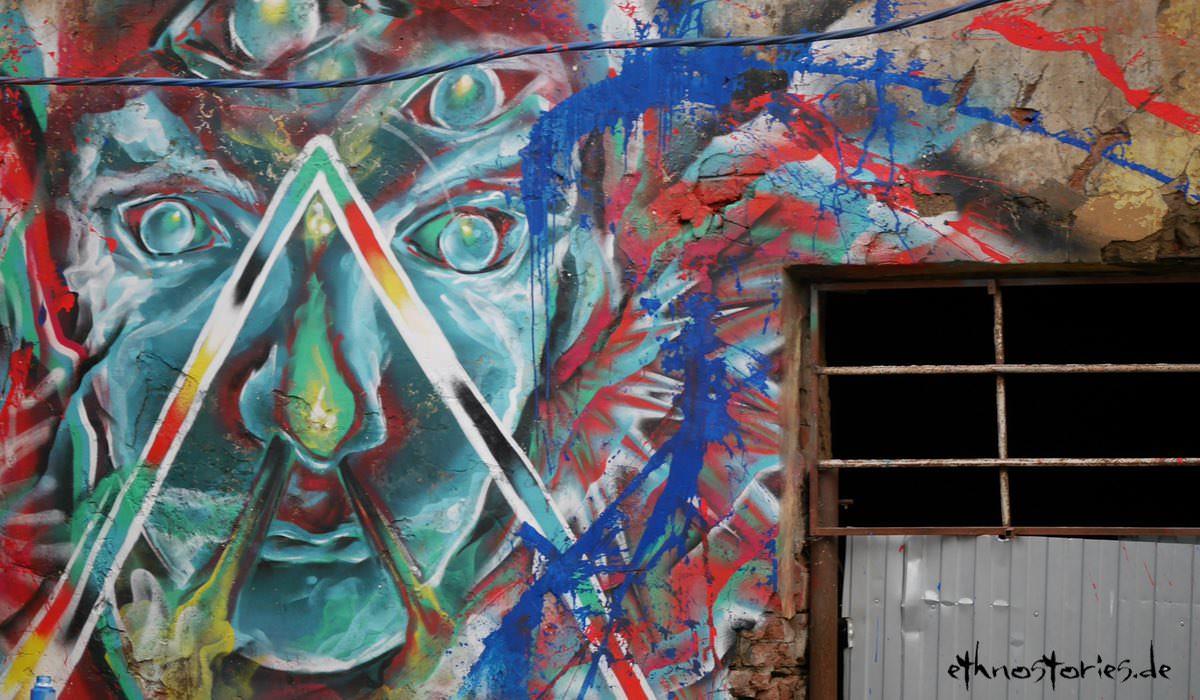 Street Art, Impression vom Künstlerzentrum Alafuzov Loft