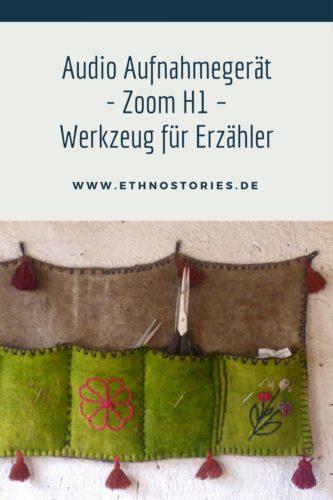 Audio Aufnahmegerät Zoom H1 - Werkzeug für Erzähler