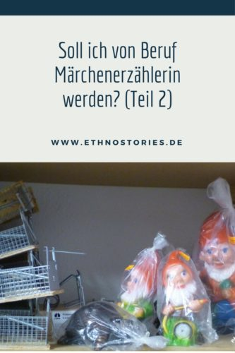 4 Gartenzwerge mit Mausefallen - Artikelbild: Soll ich von Beruf Märchenerzählerin werden? (Teil 2)