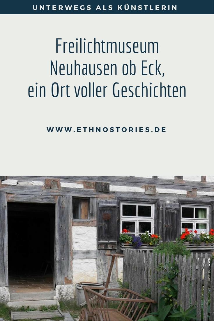 Ansicht eines Bauernhauses im Freilandmuseum Neuhausen ob Eck - Artikelfoto: Freilichtmuseum Neuhausen ob Eck, ein Ort voller Geschichten