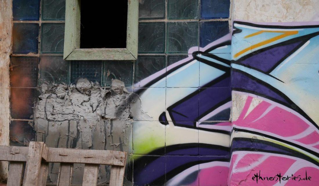 Street Art, Grafitti im Künstlerzentrum