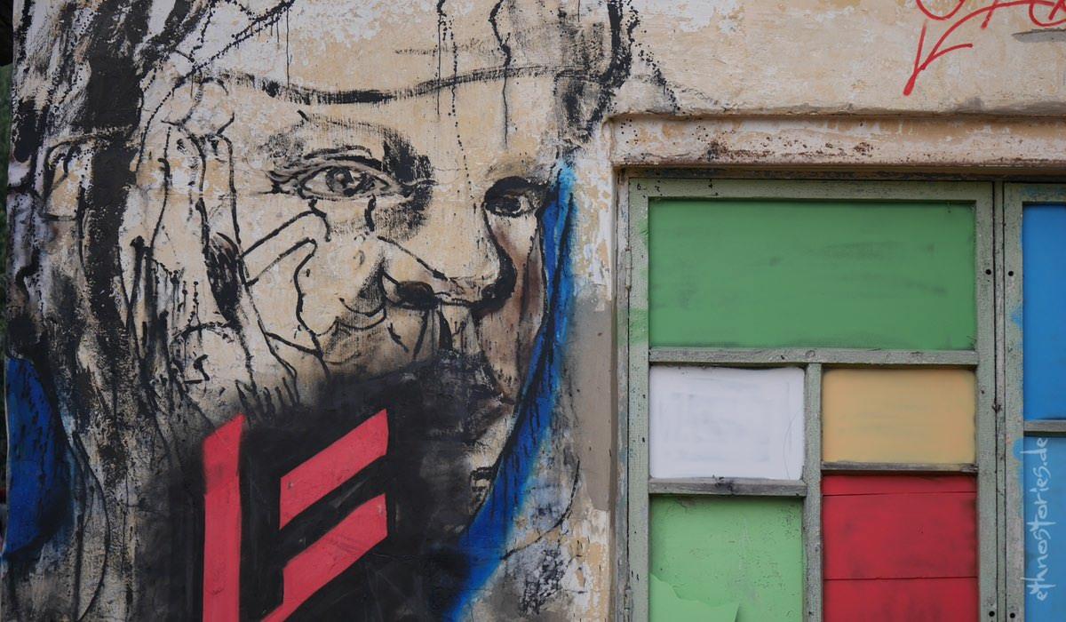 Wandgestaltung, Grafitti im Künstlerzentrum Alafuzov Loft