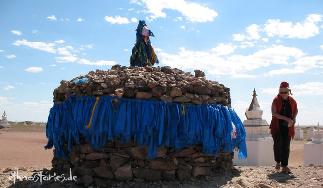 Artikelfoto: In die Mongolei reisen - Ovoo, Wüste Gobi
