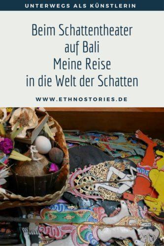 Schattenspielfiguren und Opfergaben - Artikelfoto: Beim Schattentheater auf Bali - meine Reise in die Welt der Schatten