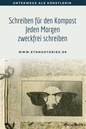 Buch für Morningpages, Collage und Buchgestaltung: Uschi Erlewein - Artikelfoto: Schreiben für den Kompost