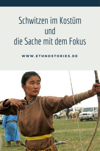 Bogenschützin aus der Mongolei  - Artikelfoto: Schwitzen im Kostüm und die Sache mit dem Fokus