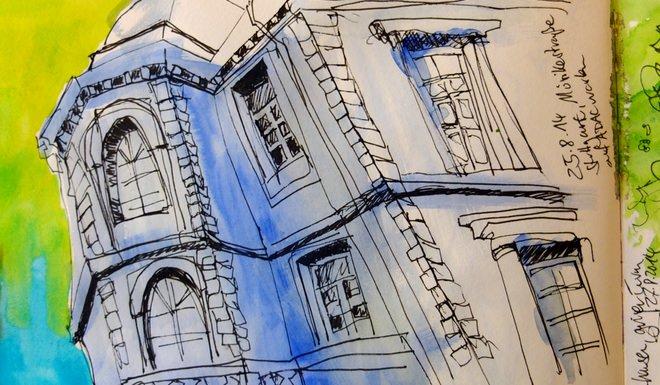 Urban Sketching: Haus Mörikestrasse, Stuttgart