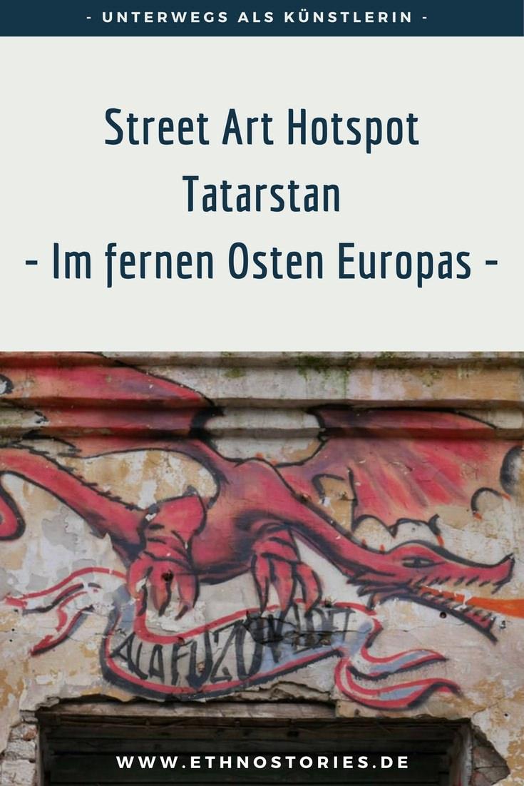 Silant, der Drache von Kasan (Tatarstan), Street Art im Künstlerzentrum Alafuzov Loft - Artikelbild: Street Art Hotspot Tatarstan -  Im fernen Osten Europas