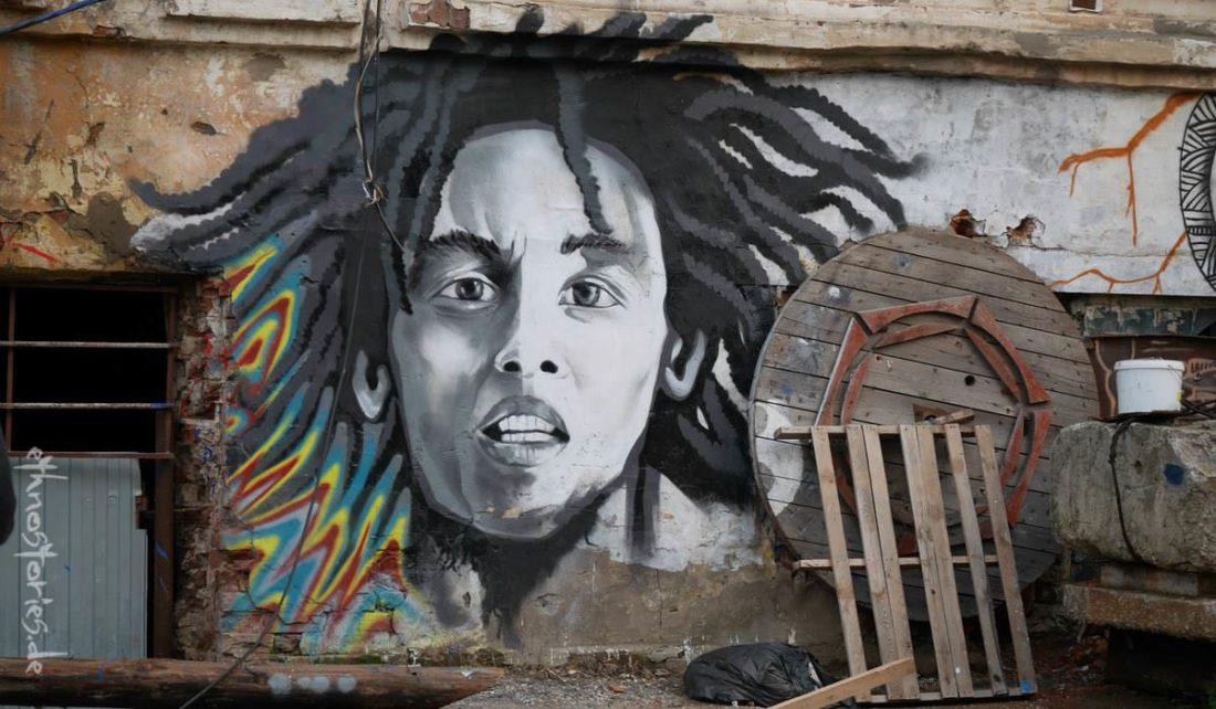 Street Art im Alafuzov Loft in Kasan (Tatarstan)