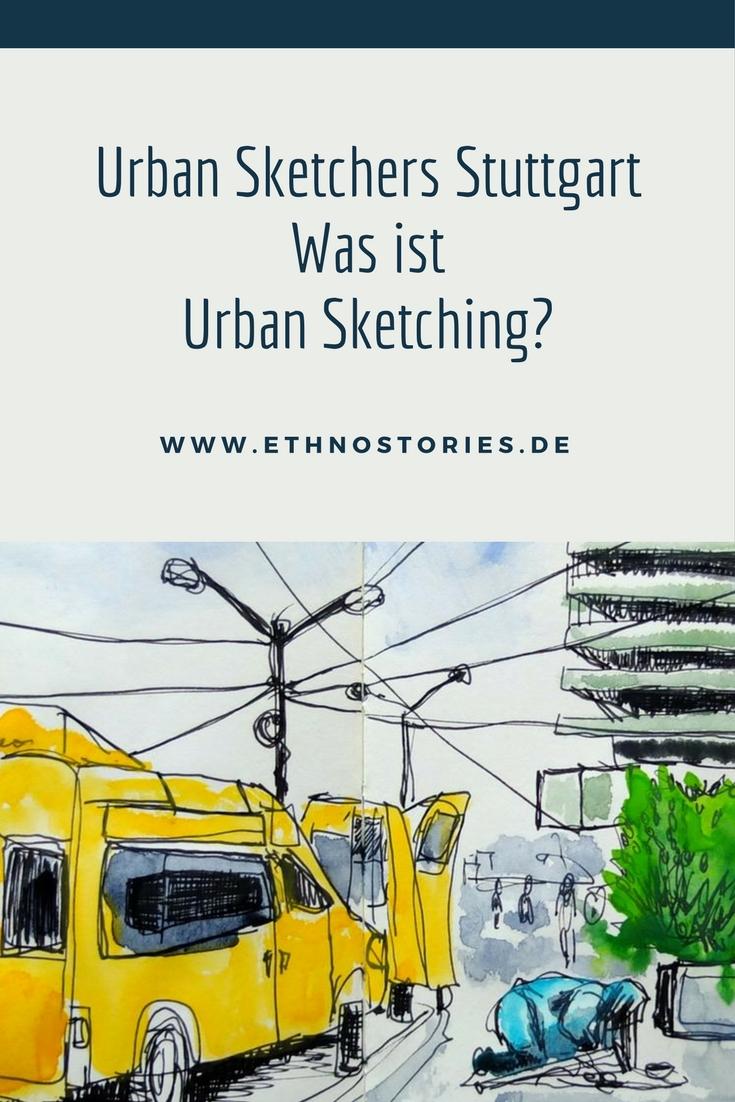 Zeichnung - Artikelfoto: Die Urban Sketchers Stuttgart - Was ist Urban Sketching?