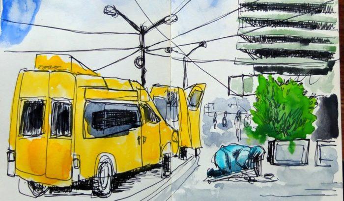Urban Sketching: Skizze der Urban Sketchers Stuttgart