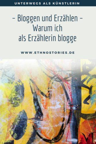 Mixed Media von Uschi Erlewein mit Tulpen, Artikelbild von: Bloggen und Erzählen - Warum ich als Erzählerin blogge