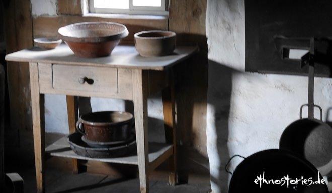 Die karge Küche im Weberhaus Neuhausen ob Eck