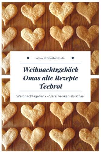 Teebrot ist ein einfaches Rezept, schnell gemacht, doch lecker. Du kannst es lange in einem Glas aufbewahren, es wird immer besser! Im Blog Ethnostories weiterlesen: https://ethnostories.de/weihnachtsgebaeck-omas-alte-rezepte-teebrot/ #backen #weihnachten #weihnachtsgebäck #kekse #ethnostories #omasrezepte #rezept #rezepte #teebrot #weihnachtsplätzchen #plätzchen