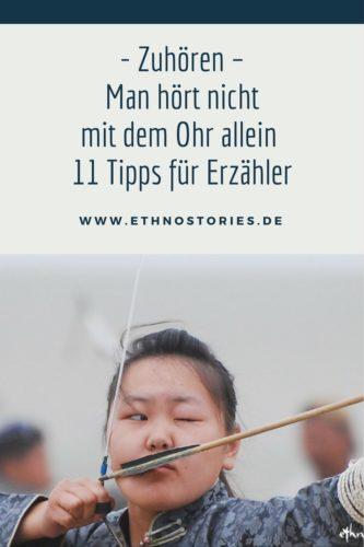 Zuhören - Man hört nicht mit dem Ohr allein - 11 Tipps für Erzähler